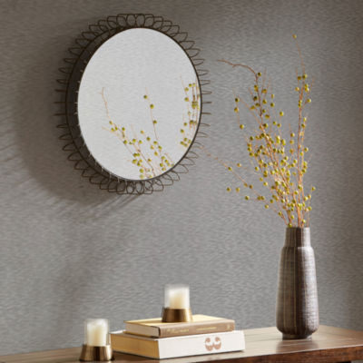 Madison Park Zoe Bronze Iron Circle Mirror