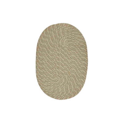 Better Trends Palm Springs Braided Oval Reversible Rugs