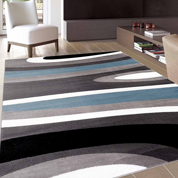 World Rug Gallery Abstract Contemporary Modern Rectangular Rugs