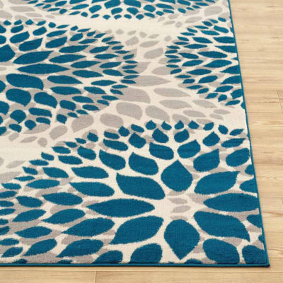 World Rug Gallery Modern Floral Design Rectangular Rugs