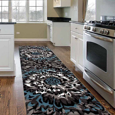 World Rug Gallery Modern Large Floral Pattern Rectangular Rugs