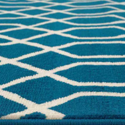 World Rug Gallery Modern Trellis Pattern Rectangular Rugs