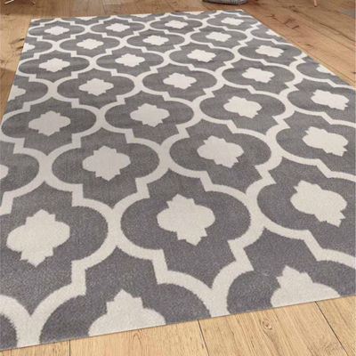 World Rug Gallery Moroccan Trellis Contemporary Rectangular Rugs