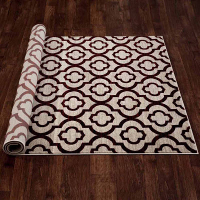 World Rug Gallery Moroccan Trellis Pattern High Quality Rectangular Rugs