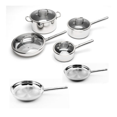 BergHOFF EarthChef Boreal Cookware Set Stainless Steel 10pc