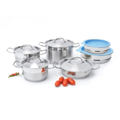 BergHOFF Hotel Line Cookware Set w/ Mixing Bowls 12pc