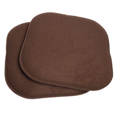 "Memory Foam Honeycomb Non-Slip Back Chair or Seat 16"" x 16"" Cushion Pad"