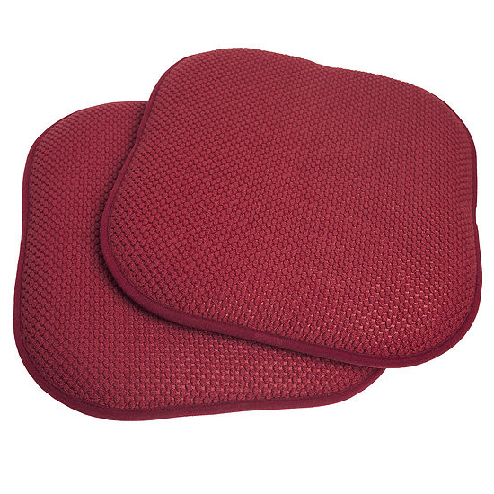 "Memory Foam Honeycomb Non-Slip Back Chair or Seat 16"" x 16"" Cushion Pad"