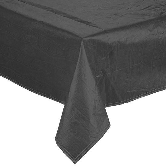 Premium Quality Vinyl Flannel Back Oblong Tablecloth