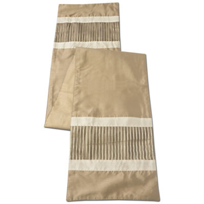 Trends Collection Champagne Stripe Table Runner 13 x 72