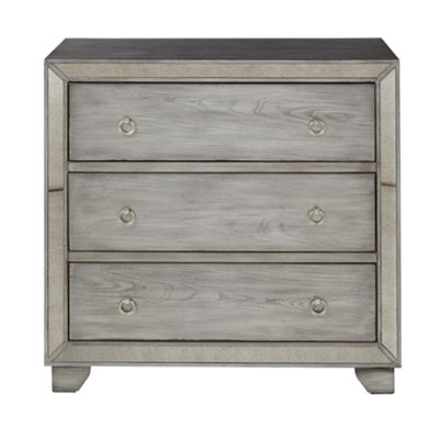 Madison Park Amelia 3-Drawer Mirrored Chest