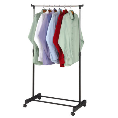 "Adjustable Rolling Garment Rack-Adjusts from 39.5"" to 60"" High!"