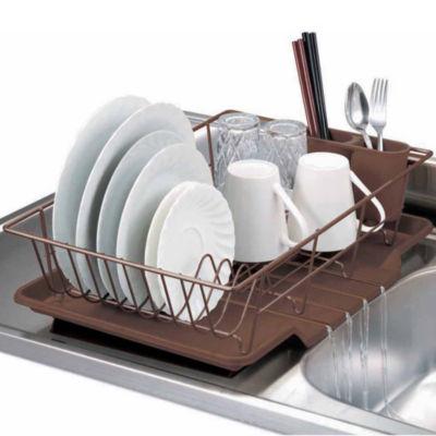 Home Basics 3-Piece Kitchen Sink Dish Drainer Set