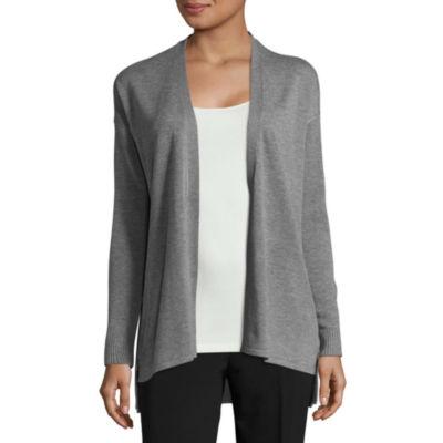 Worthington Long Sleeve Side Zipper Cardigan