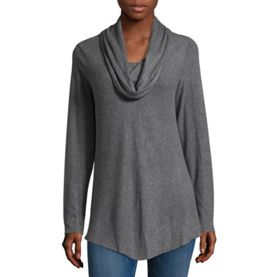 Alyx Womens Cowl Neck Long Sleeve Knit Blouse