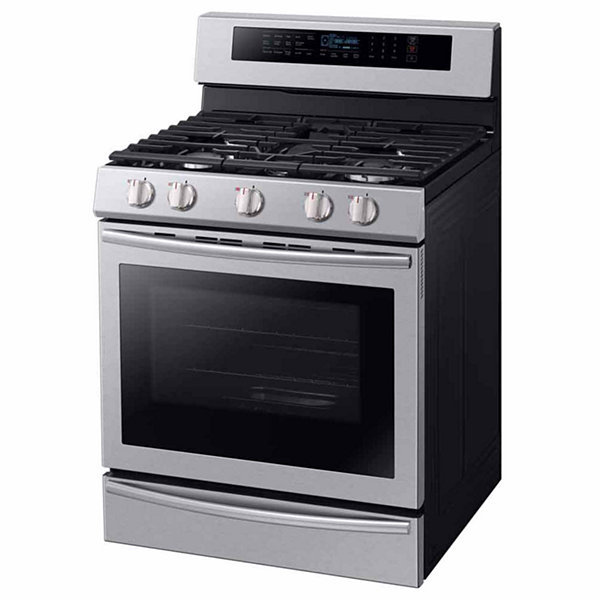Samsung 5.8 cu. ft. True Convection Gas Range with Steam Reheat and Illuminated Knobs