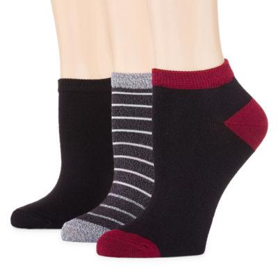Mixit 3 Pair Ultra Soft Low Cut Socks - Womens
