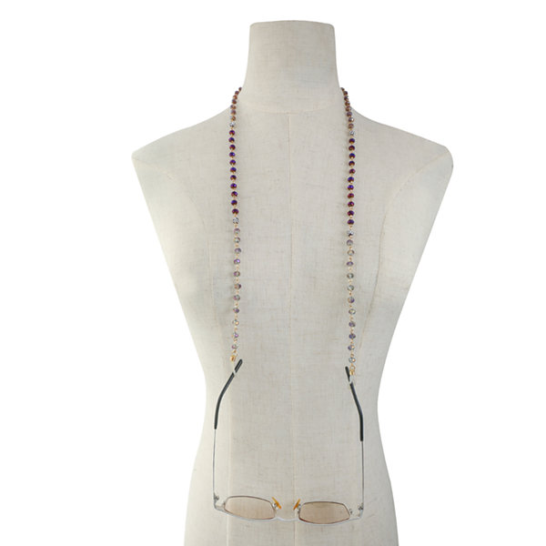 Liz Claiborne Purple Beaded Necklace