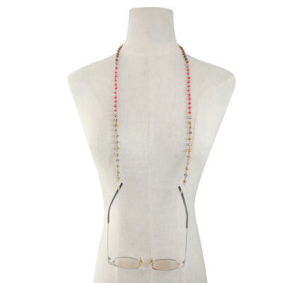 Liz Claiborne Womens Red Beaded Necklace