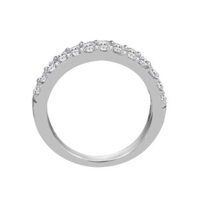 Womens 2mm 1/2 CT. T.W. Genuine White Diamond 14K Gold Round Wedding Band