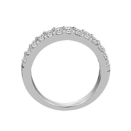 Womens 2mm 1 2 Ct Tw Genuine White Diamond 14k Gold Round Wedding Band