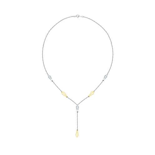 Womens 1/5 CT. T.W. White Diamond Y Necklace