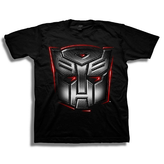 Boys Crew Neck Short Sleeve Transformers Graphic T-Shirt - Big Kid