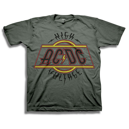 Acdc Boys Crew Neck Short Sleeve Graphic T-Shirt Big Kid