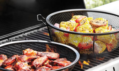 Outset BBQ Chef's Outdoor Grill Basket and Skillet