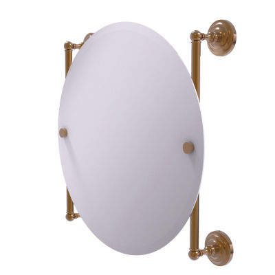 Allied Brass Que New Collection Round Frameless Rail Mounted Mirror