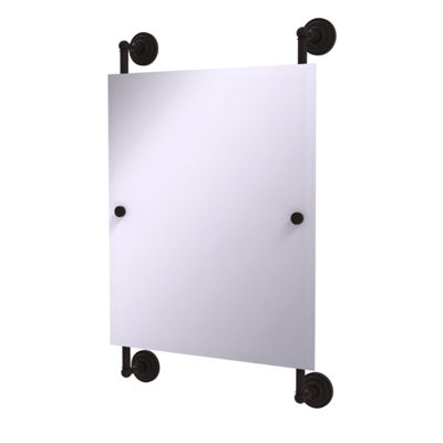 Allied Brass Que New Collection Rectangular Frameless Rail Mounted Mirror