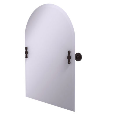 Allied Brass Frameless Arched Top Tilt Mirror with Beveled Edge