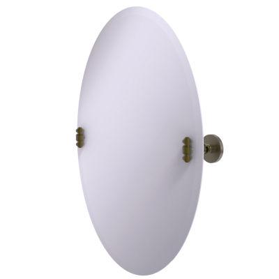 Allied Brass Southbeach Frameless Oval Tilt Beveled Wall Mirror