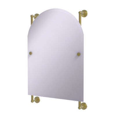 Allied Brass Waverly Place Collection Arched Top Frameless Rail Mounted Mirror