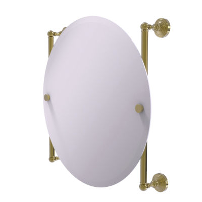 Allied Brass Waverly Place Collection Round Frameless Rail Mounted Mirror