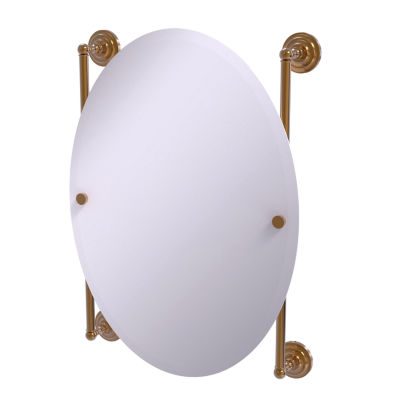 Allied Brass Que New Collection Oval Frameless Rail Mounted Mirror