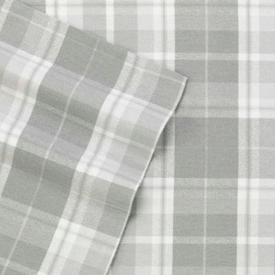 Laura Ashley Mulholland Plaid Flannel Sheet Set