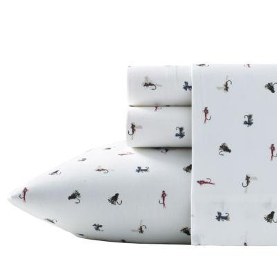 Eddie Bauer® Fishing Flies 100% Cotton Percale Sheet Set