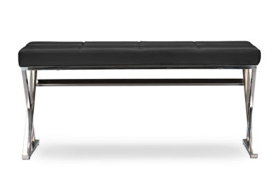 Baxton Studio Herald Leather Bench