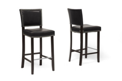 Baxton Studio Aries 2-pc. Upholstered Bar Stool