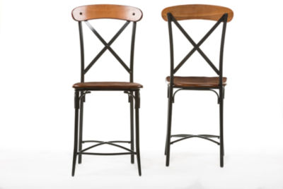 Baxton Studio Broxburn 2-pc. Swivel Bar Stool