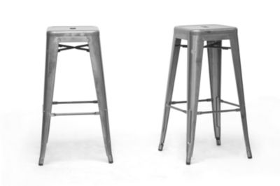 Baxton Studio French Industrial 2-pc. Bar Stool