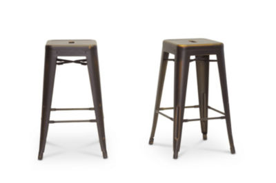 Baxton Studio French Industrial Counter Height 2-pc. Bar Stool