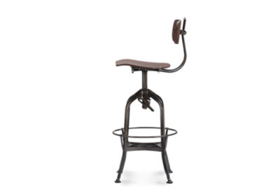 Baxton Studio Justin Swivel Bar Stool