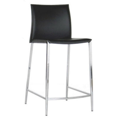 Baxton Studio Holofernes Counter Height 2-pc. Upholstered Bar Stool