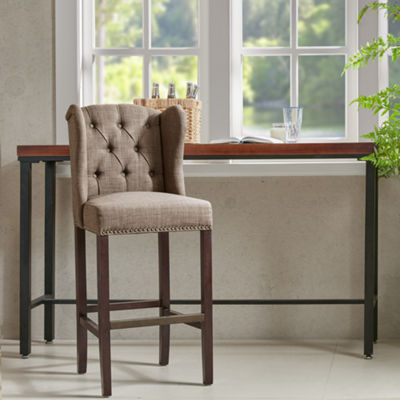 Madison Park Lydia Tufted Wing 30-Inch Bar Stool