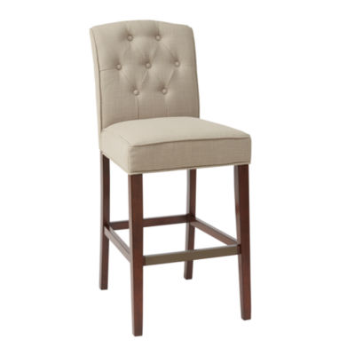 Madison Park Misha Tufted 30-Inch Bar Stool