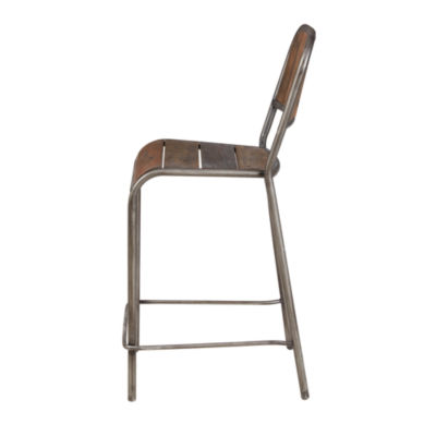 INK + IVY Renu Counter Stool With Backrest
