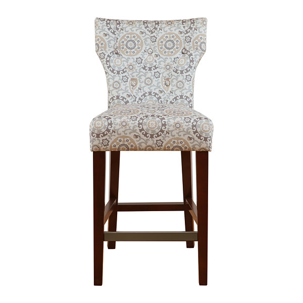 Madison Park Hayes Tufted Back Counter Stool