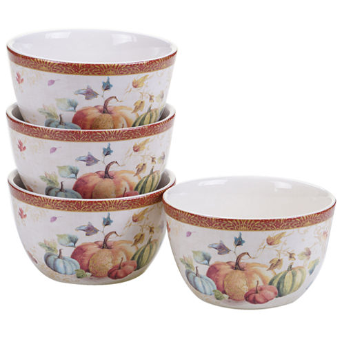 Certified International My Fall Inspiration 4-pc. Ice Cream Bowl